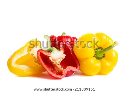 Vegetables isolated on a white background. Concept of healthy food. - stock photo