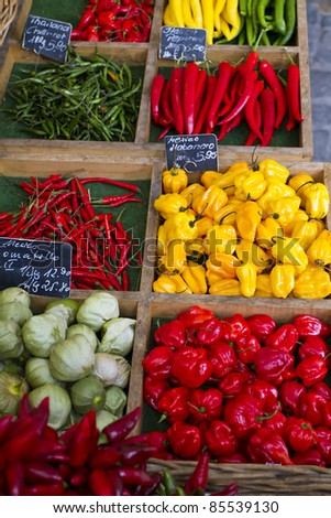 Vegetables market - stock photo