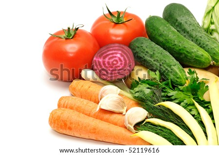 vegetables on a white - stock photo