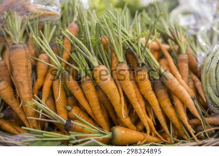 Vegetables on stall in a supermarket - stock photo