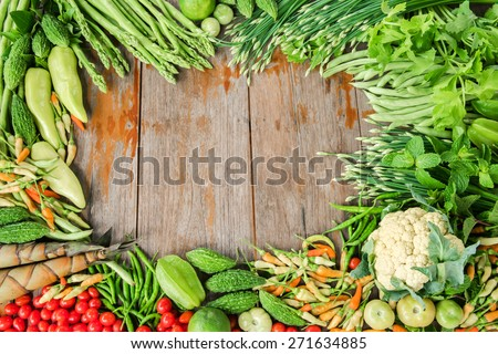 Vegetables organics - stock photo
