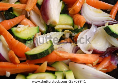 vegetables ready to fry