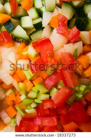 Vegetables texture - stock photo