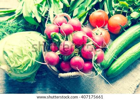 Vegetables/toned photo - stock photo