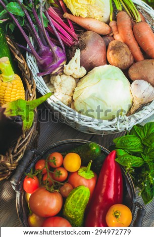 Vegetables, top view - stock photo