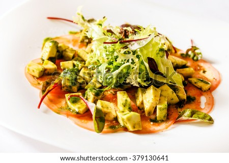 vegetarian carpaccio - stock photo
