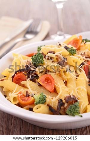 vegetarian pasta gratin - stock photo