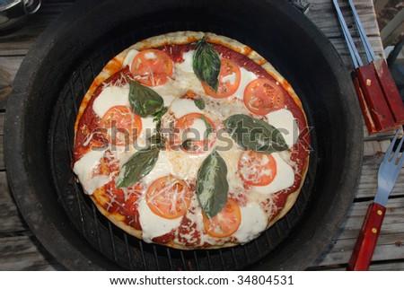 Vegetarian Pizza - stock photo