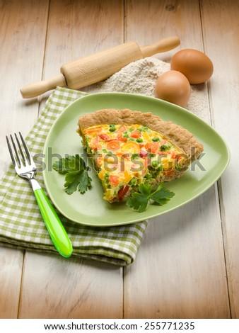 vegetarian quiche - stock photo