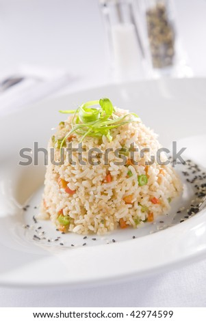Vegetarian Risotto - stock photo
