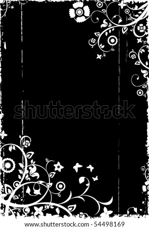 vegetative black-and-white background with a place for the text - stock photo