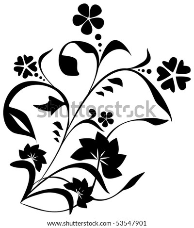 Vegetative element of black color. - stock photo