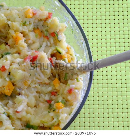 veggi potato salad 1 - stock photo