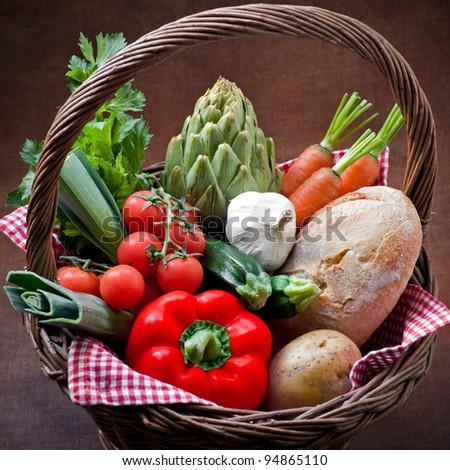 Veggie Basket - stock photo