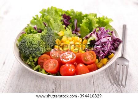 veggie bowl - stock photo