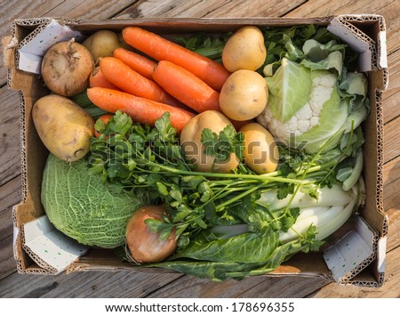 Veggie Box - stock photo