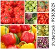 veggie collage - stock photo
