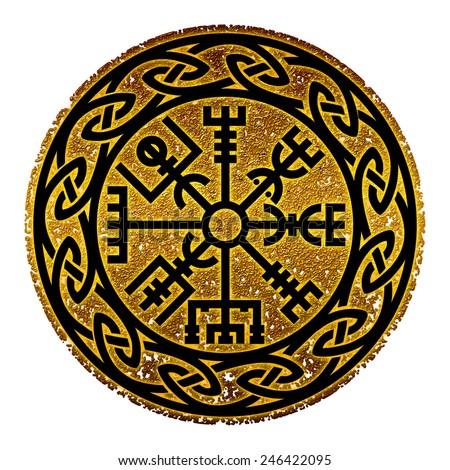 Vegvisir, Icelandic Compass, Protection - stock photo