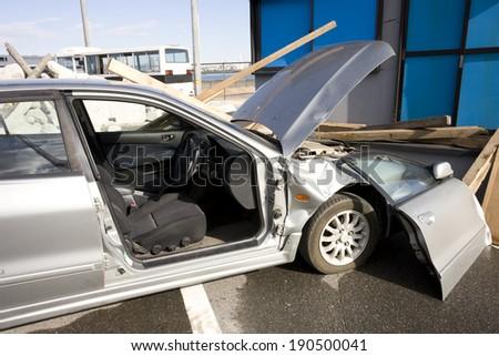 Vehicle accident - stock photo