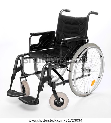 Vehicle for handicapped persons - invalid chair. - stock photo
