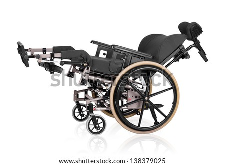 Vehicle for handicapped persons - wheelchair. - stock photo