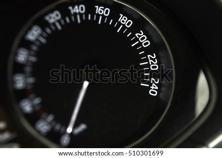 vehicle interior speedometer