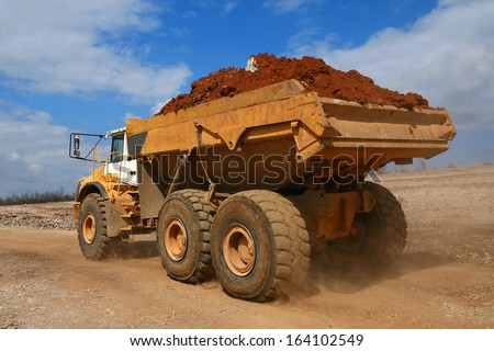 vehicle on a construction site - stock photo