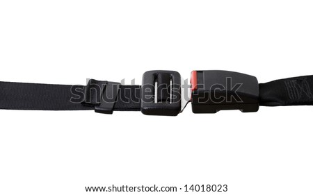 Vehicles Seat Belt - Isolated on White - stock photo