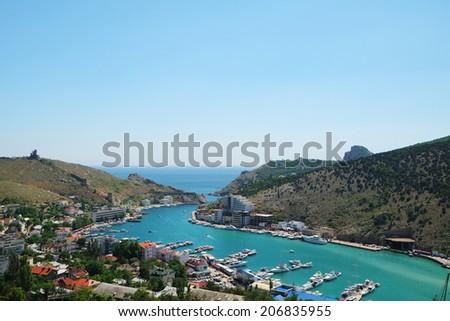 Veiw of Balaklava sea bay - stock photo