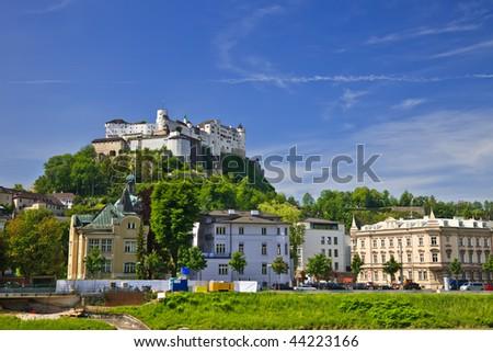Veiw on Hohensalzburg Fortress, Salzburg, Austria, 2009 - stock photo