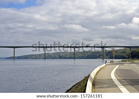 Vejle Fjord Bridge  - stock photo