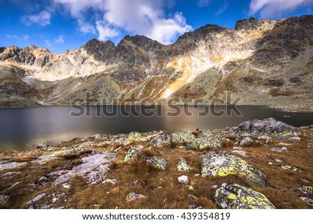 Velke Hincovo pleso (Wielki Staw Hinczowy) in the Tatras - stock photo