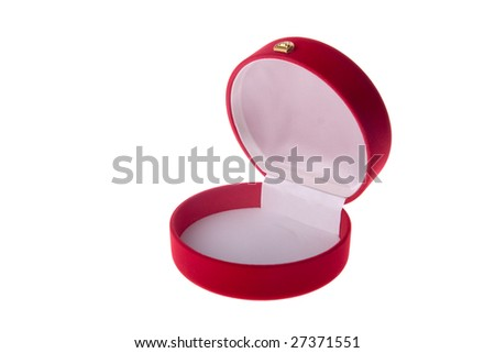 velvet jewelry box - stock photo