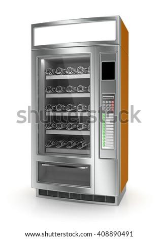 Vending machine on white background. 3d render - stock photo