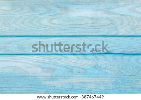 Veneer turquoise color painted old wood wall texture background - stock photo