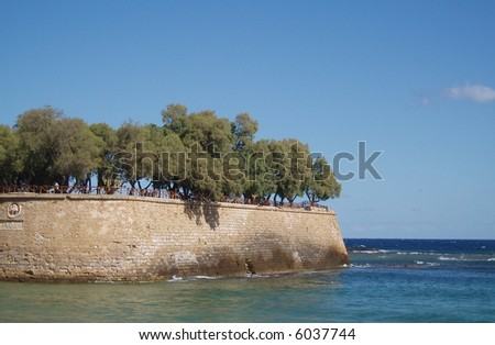 Venetian architecture remains in Hania, Greece - stock photo