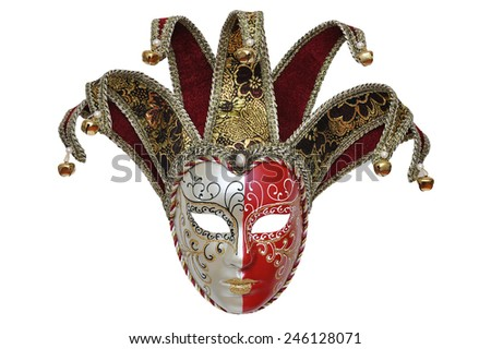 Venetian carnival mask isolated on white background  - stock photo