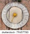 venetian clock - stock photo