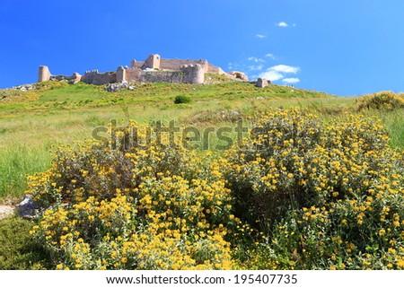Venetian fortress built on top of a hill near Argos, Greece - stock photo