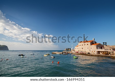 Venetian fortress Castello on Adriatic Sea coast in Montenegro