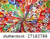 venetian glass mosaic ornamental background - stock photo