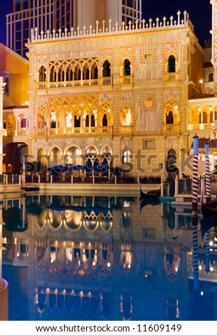 Venetian Las Vegas at night - stock photo