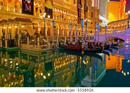 Venetian Las Vegas at night - stock photo