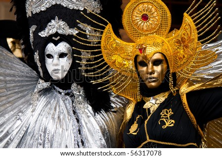 Venetian mask - stock photo