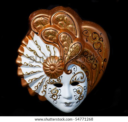 Venetian mask isolated on black - stock photo
