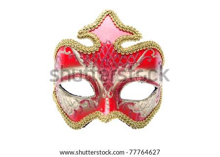venetian masks isolated - stock photo