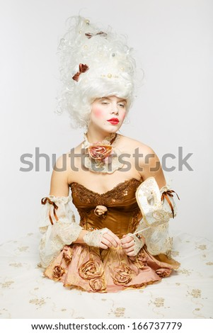 Venetian Princess. Masquerade ball. - stock photo