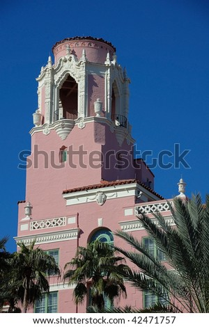 Venetian Tower of Vinoy Resort - stock photo