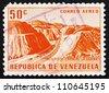 VENEZUELA - CIRCA 1956: a stamp printed in the Venezuela shows Caracas �¢?? La Guaira Highway, circa 1956 - stock photo