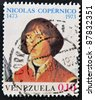 VENEZUELA - CIRCA 1973: A stamp printed in Venezuela shows Nicolaus Copernicus, circa 1973 - stock photo